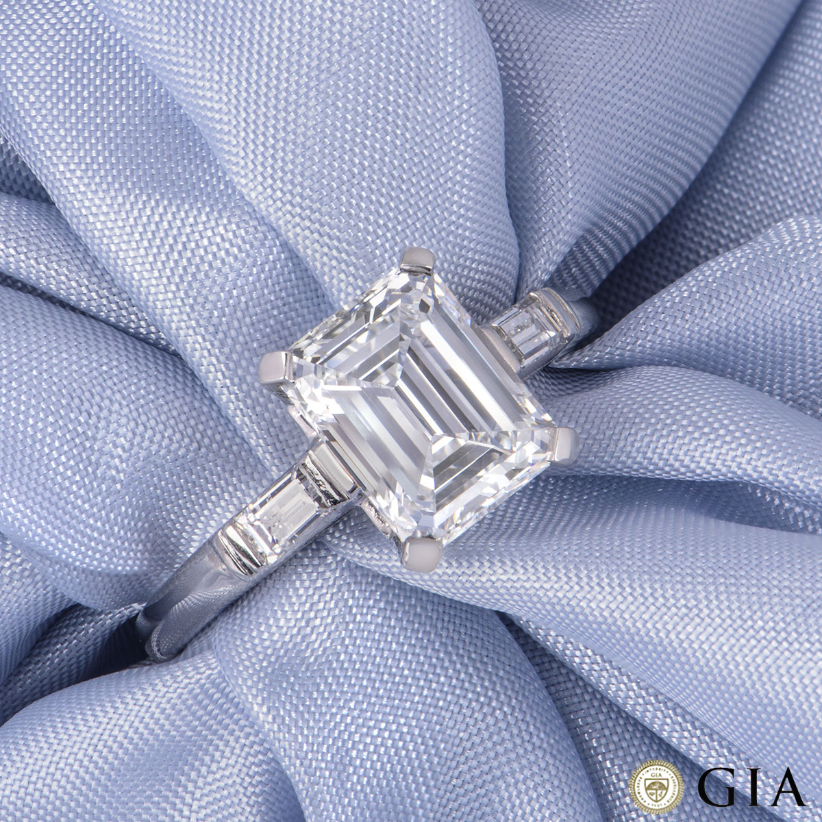 Platinum Emerald Cut Diamond Ring 1.92ct F/VVS2